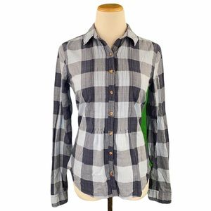 Abercrombie Checkered Tie Back Button Down Shirt